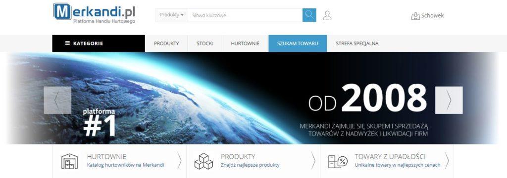 widok strony głównej Merkandi.pl